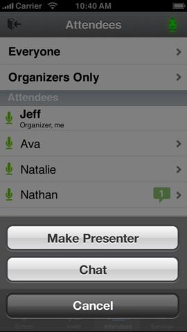 GoToMeeing app screenshot