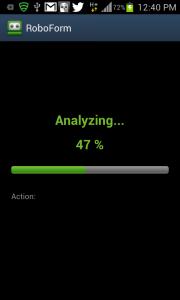 RoboForm app sync screenshot