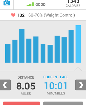 Runkeeper Android app screenshot