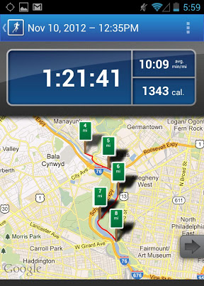 Runkeeper app screen example