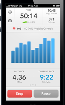 RunKeeper app on iPhone