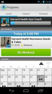 Workout Trainer app screenshot