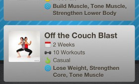 Workout Trainer ios app screen example