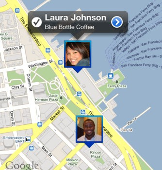 Google Latitude app screenshot