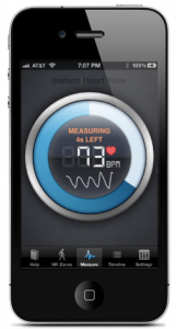 Instant Heartrate Monitor app screen example