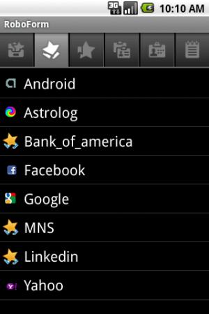 RoboForm app passwords example