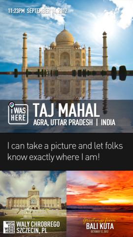 InstaPlace iOS app screen examples